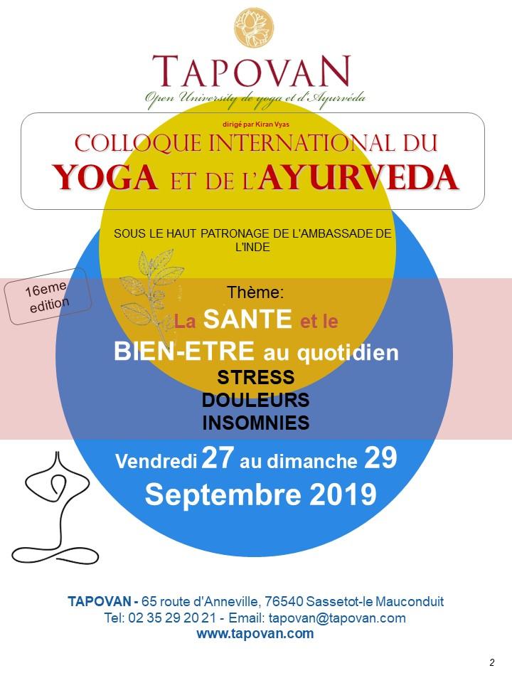 16ème Colloque international Yoga et Ayurveda